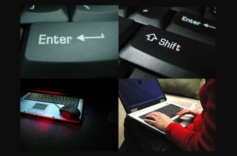 מאותגרת טכנולוגית - Laptop Enter Shift כפתורים אהובים על מאותגרים טכנולוגית במחשב.