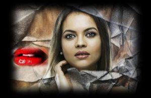 דוקטור תעשה לי שפתיים כמו של אנג'לינה ג'ולי.תמונה של דוגמנית עם שפתיים עבות ושל שפתיים עם אודם אדום..
