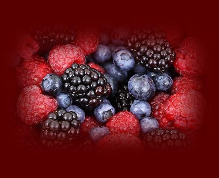 דיאטת אנטי אייג'ינג - פירות יער. תמונה של פירות יער.