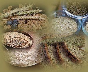 תמונה של דגנים מלאים לדיאטת אנטי אייג'ינג.