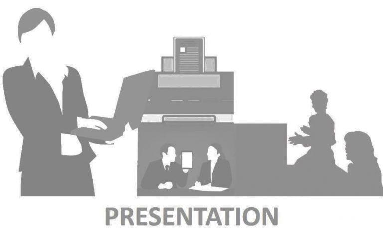 הרצאות / סדנאות I לעבוד איתי - חלי בן דויד יועצת תדמית אישית. תמונת איור של אישה בפרזנטציה עם 2 נשים בקהל.